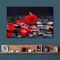 キャンバス写真家の装飾壁アート赤いバラのギフトリビングルームの装飾のための絵画ポスタープリント写真70x120cmフレームなし