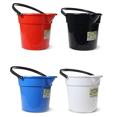 Buckets for Cleaning, Plastic Round Bucket, Floor Mopping Water Bucket, 2 Gallon Cleaning Bucket, Pail with Spout, Bath Bucket, Bucket for Bathroom, Bucket with Spout, Pails and Buckets 4 Colors Asst