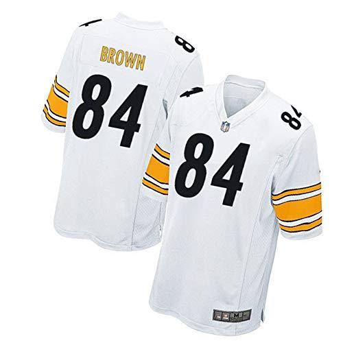 84# Antonio Brown Pittsburgh Steelers Rugbyshirt Voetbalshirt voor mannen Unisex trainingshemden wit poloshirt kinderen sportswear geborduurde stof fans sweatshirt