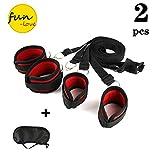Cuerda de la cama Correa de nylon Esposas Gafas Conjunto de 2 piezas