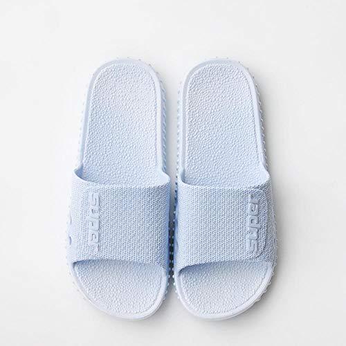 quming Verano Zapatillas Pantuflas Playa Hombre Y Mujer,Zapatillas de casa Sencillas, Zapatillas de baño Antideslizantes y Transpirables-Azul Claro_36-37