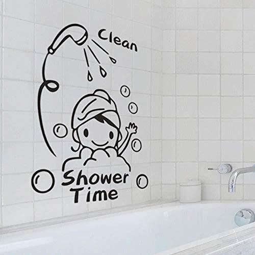 Nette Duschmädchen-Badezimmer-Badezimmer-Aufkleber-Glasbadewanne-dekorative Hintergrund-Dekoration verschiedene Arten der Inneneinrichtung