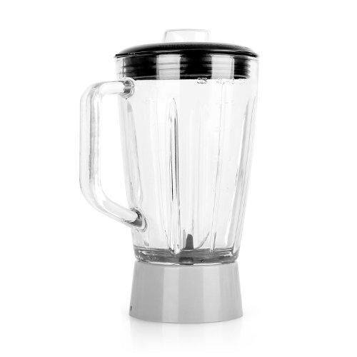 Klarstein Carina Lucia Küchenmaschine Mixkrug Ersatzteil (1,5 Liter-Glaskrug, 6 Klingen, Deckel mit Gummidichtung) klar