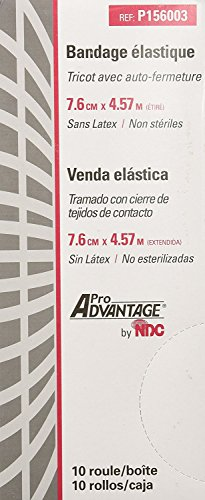 ProAdvantage P156003 Latex-Free Elastic Bandages with Self-Closure 3' x 5 yds (Pack of 10)