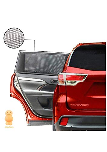 JELLYBABABABY - Confezione Da 2 Tendine Parasole Auto Nere per Oscuramento Vetri Auto - Tendine Parasole Auto Bambini e Cani - Protezione Solare Per Finestrino e Coprisole Auto Bambini