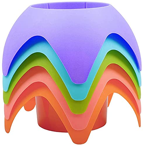 Beach Coasters , Beach Sand Coasters Drink Cup Holders, Beach Vacation Accessories, Multifunctional Beverage Holder (Multicolor, 5 Pack)