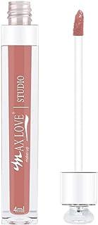 Gloss Labial Lip Volumoso Max Love Cor 12 - Nude com Glitter - Aumento dos Lábios