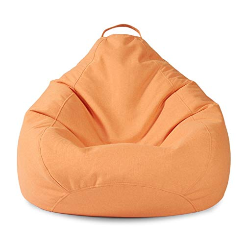 BeanBags Large Bean Bag Chair Sofa Couch Lounger High Back Bean Bag Chair for Adults and Kids for Home Garden Living Room (Color : Orange, Size : One size)