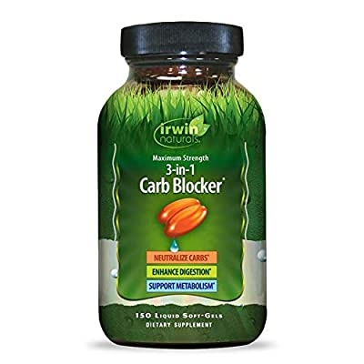 Irwin Naturals Maximum Strength 3 in 1 Carb Blocker Economy Diet Supplement, 150 Count