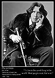 Poster mit inspirierendem Zitat von Oscar Wilde, A2, 42 x