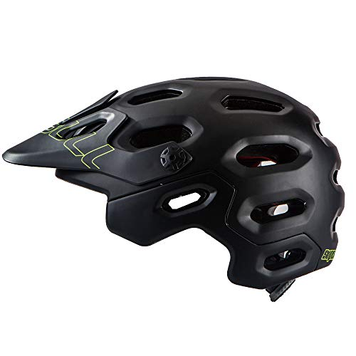 Sxgyubt Outdoor Cycling Helmet Head Protection Wide Brim Adjustable Angle Cap for Mountain Bicycle Race black One size