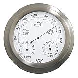 Oypla Indoor Outdoor Barometer Weather Station Stainless Steel