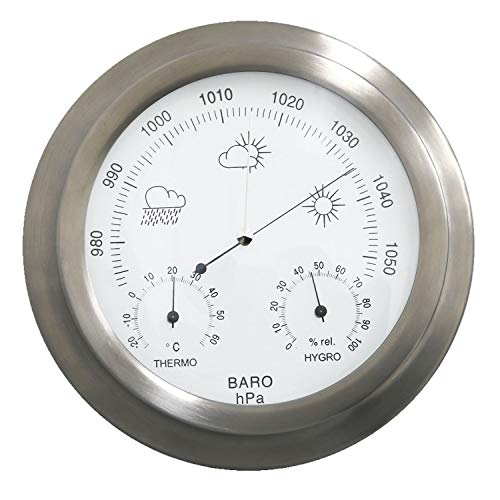 Oypla Indoor Outdoor Barometer Weather Station Stainless Steel