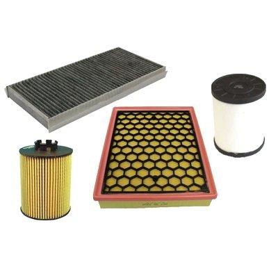 Filtro dell'olio, filtro dell'aria, filtro abitacolo, filtro diesel