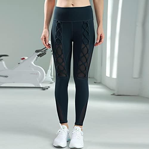 ShFhhwrl Mujer Leggins Pantalones De Yoga De Punto para Mujer, Mallas Deportivas Push Up De Cintura Alta, Mallas Deportivas De Secado Rápido para Correr, para