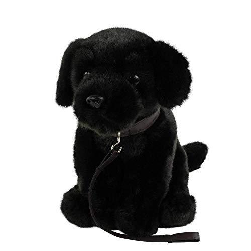 Teddys Rothenburg Peluche de perro labrador, color negro, 35 cm