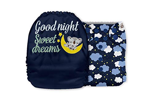 Mama Koala Embroidery One Size Baby Washable Reusable Pocket Cloth Diaper with 1 One Size Microfiber Insert (36047)