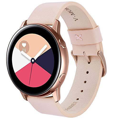 V-MORO Gear Sport Armband, Galaxy Watch 42mm Armband 20mm Echtleder Ersatz Smart Watch Band Armband Uhrenarmband für Samsung Gear Sport Fitness Smartwatch SM-R600/Samsung Gear S2 Classic