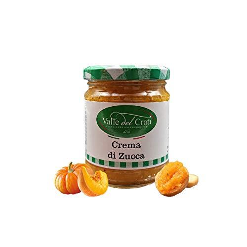 Crema di Zucca, Crema Spalmabile alla Zucca , Condimento per Pizza Antipasti Primi Piatti , Vasetto (180 grammi)