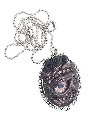 Collana occhio di drago colore rosso e argento