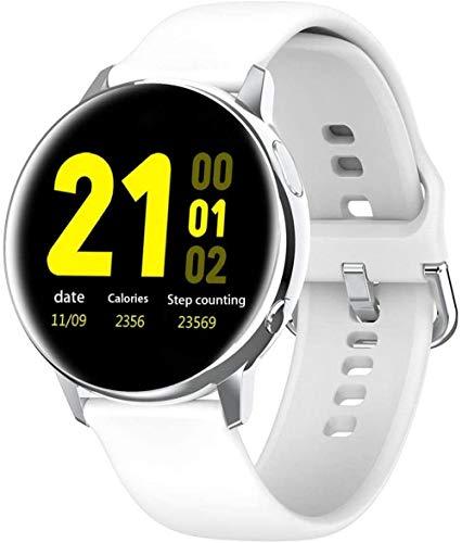 Reloj inteligente HD de pantalla grande con reloj inteligente inteligente de carga inalámbrica compatible con iPhone Samsung y Android Phones-B