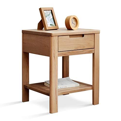 Xu Yuan jia-Shop XuYuanjiaShop Natürliche Holzplatte Platz Couchtisch Beistelltisch Esstisch Schreibtisch Schlafzimmer Nachttisch mit Schublade (natürliche Farbe)