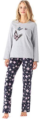 Merry Style Mädchen Jugend Schlafanzug MS10-192 (Melange Blumen, 158)