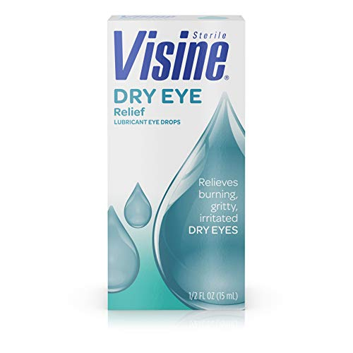 Visine Tears Lubricant Eye Drops for Dry Eye Relief, 0.5 Fluid Ounce by Visine