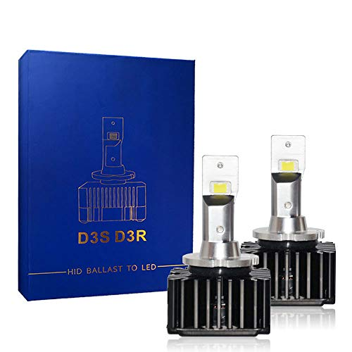 Bright LED Headlight Bulbs Conversion Kit D3S D3R 8400LM 70W, LED CSP Chips 6000K White For Car Truck High&Low Beam Light Replacement HID Xenon Plug N Play