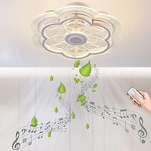 YUnZhonghe Moderno Ventilador de Techo con lámpara LED LED 80W Techo Techo Ventilador Fan Aparador Aplicación/Control Remoto Lámpara de Techo Regulable Lámpara de Ventilador Temporal Lámpara de Vent