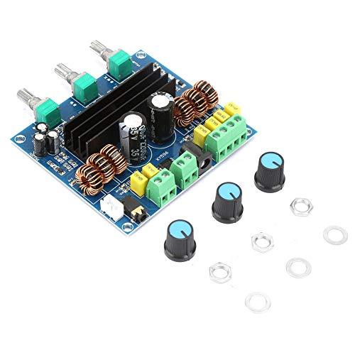 KIKYO Placa amplificadora TPA3116D2, Placa amplificadora de Potencia de subwoofer estéreo Digital de 2 * 80 W + 100 W de 2,1 Canales, Placa amplificadora Digital