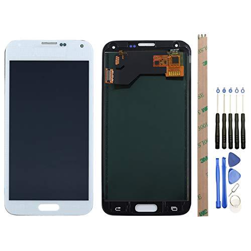 West Dragon LCD Touchscreen für Samsung Galaxy S5 Display Ersatz Bildschirm Komplettes mit Werkzeuge für Samsung Galaxy S5 G900F (Weiß)