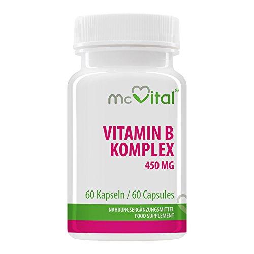 Vitamin B Komplex 100 - Enthält alle B Vitamine - Hochdosiert - Gut für Stimmung & Gedächtnisleistung - 60 Kapseln