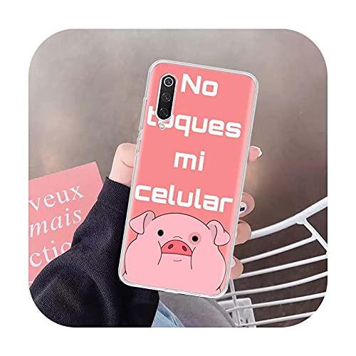 Phone cover Lindo Kawai cerdo cubierta suave teléfono caso para Xiaomi para Redmi Note 9 9S 8 7 8T 9A 8A 7A 6A 5 4X S2 K20 K30 Pro personalizado Coque-Ya097-4-Para Redmi 9A
