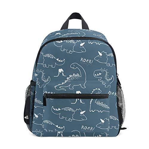 Children's Backpack, Kids Schoolbag Cute Dinosaur Students Bookbag for Boys Girls, Chest Strap