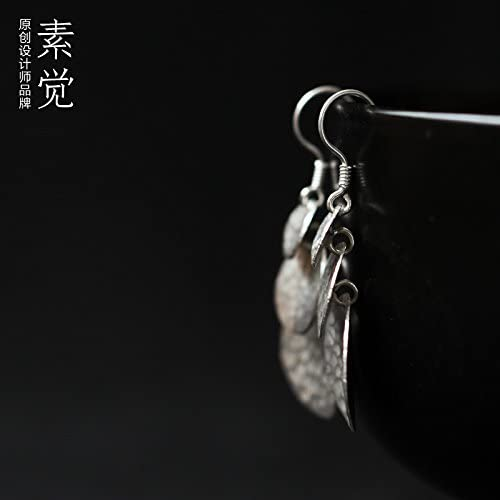 BAGEHAN Manuelle Silber 925 Silber Schmuck Ohrringe Schmuck Frau Familie Name Wind Earbob Stripe überlappende Ohrringe