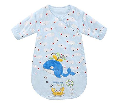 Bleu, 0-6 Mois, Sac de couchage pour bébé Spring/Autumn [Whale & Crab]