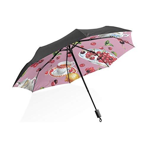 Regen Regenschirme Große Zarte Elegante Teetasse Tragbare Kompakte Taschenschirm Anti Uv Schutz Winddicht Outdoor Reise Frauen Riesigen Umgedrehten Regenschirm
