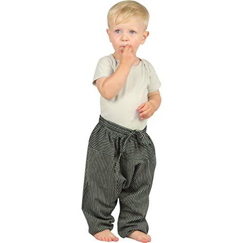 Nitya Design Haremshose für Kinder Stripe Pumphose Aladinhose Pluderhose schwarz 86/92