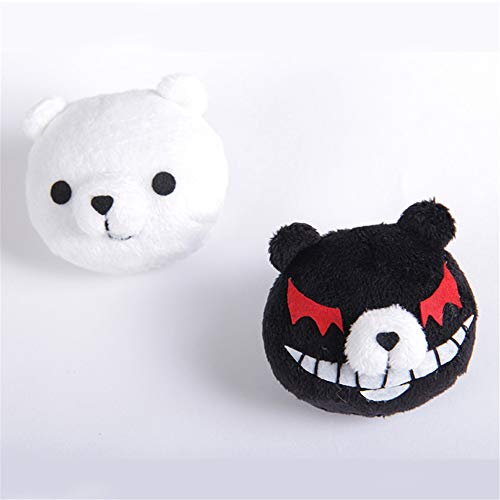 XINGWANG QUEEN 1 Pair White Black Bear Hair Clips Anime Cosplay Hair Accessories