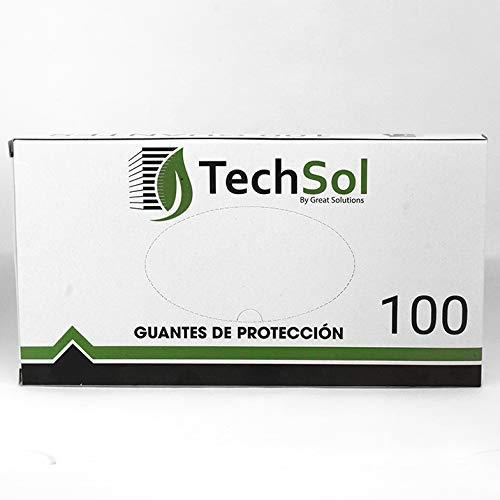 Guantes Desechables de polietileno, plástico, Talla L, 100 Unidades por Caja, Fabricados en España   Libres de látex y polvo