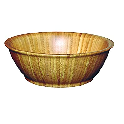 """Totally Bamboo Flared Bamboo Serving Bowl, 12"""" x 12"""" x 4"""""""