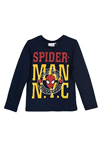 Spiderman - Camiseta de manga larga para niño azul marino 98 c