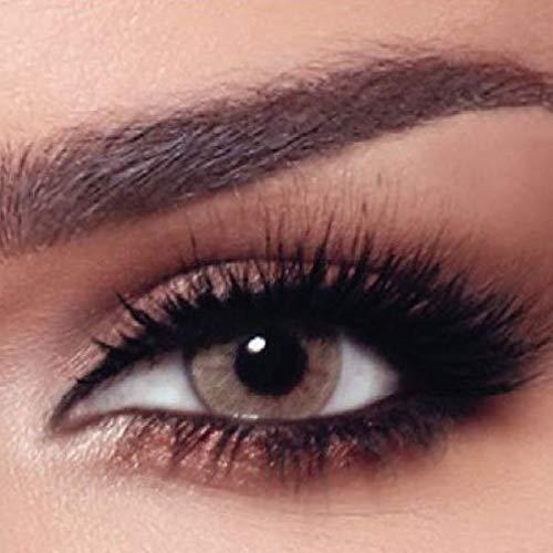 """Box mit 10x Tageslinsen - natürliche stark deckende farbige Kontaktlinsen beige Farblinsen """"Hazel Beige"""" von BELLA Markenlinsen hochwertige Qualität - ohne Dioptrien Stärke - 10er Pack (5x Paar)"""