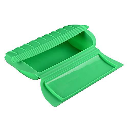 C-Handmatig voedsel Grade Siliconen Lunch Box Magnetron Dedicated Steaming Bowl Stomen Vis Bowl