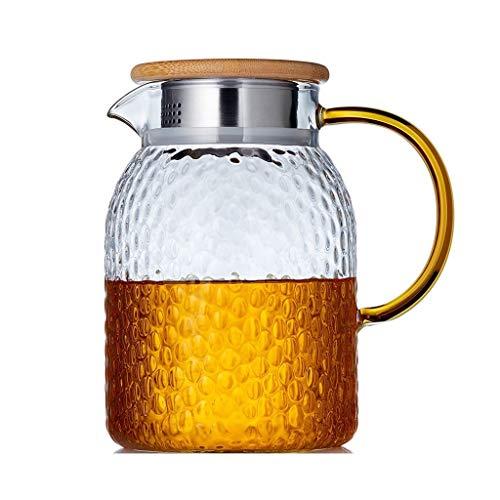 Teekannen Glas ungeheftetes Tee-Glas Sets großen Kapazitäts-Startseite Glas Kessel Tee-Maschine Hohe Temperaturbeständigkeit Großer Hammer Muster Blume gro