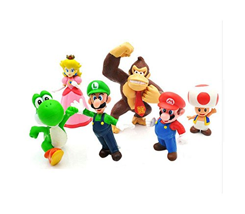 DS Figuren Set *6 Teile* SUPER Mario CA. 4-7 cm SPIEL-FIGUREN
