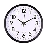 ZZTD Reloj de Pared silencioso clásico Moderno Elegante Escritorio Creativo Sala de Estar Simple Reloj Digital (Color : B)