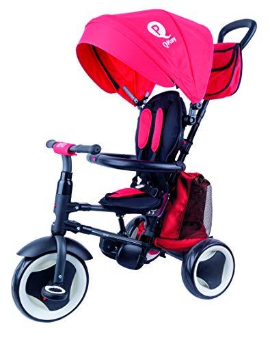 QPLAY- Rito+ Triciclo evolutivo Plegable 3 en 1, Color Rojo (QP200.05)