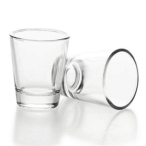 BCnmviku - Set di 2 bicchieri da liquore in vetro, 5 cl/50 ml, lavabili in lavastoviglie, per Vodka Tequila